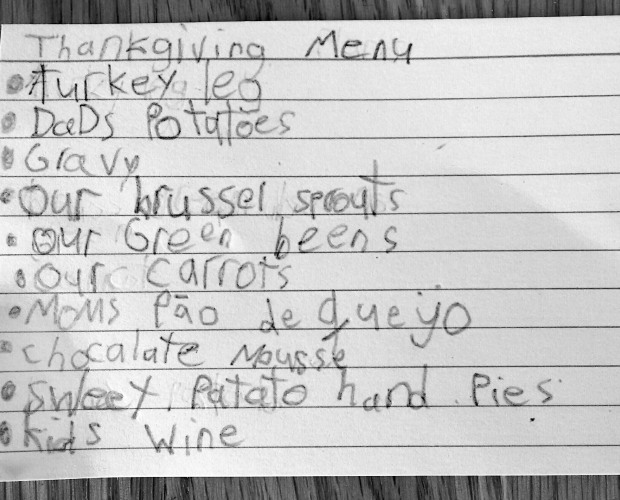 thanksgiving menu2014