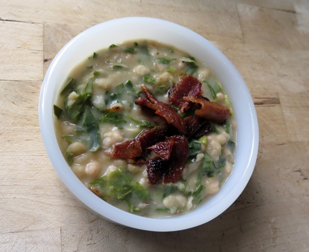 white beans and greens
