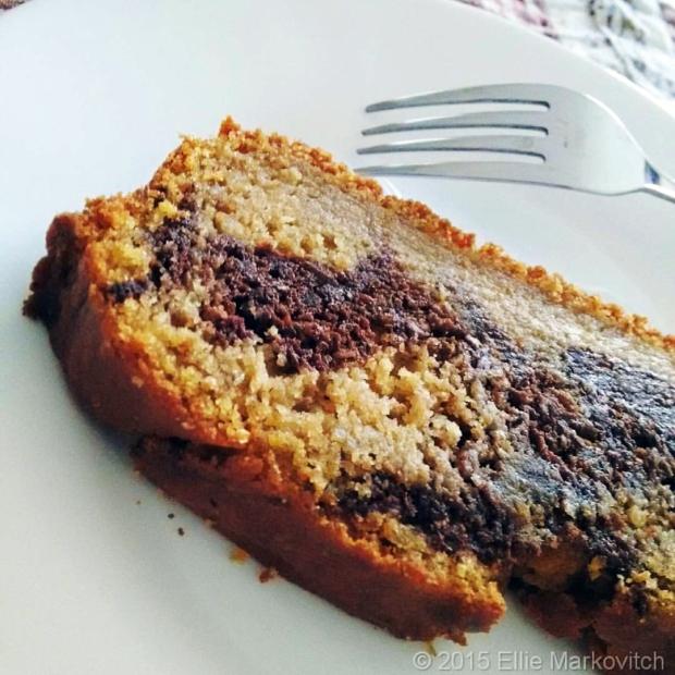 sweetpotato marble cake